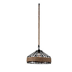 Padma 16-inch 1-Light Chandelier with Black Finish