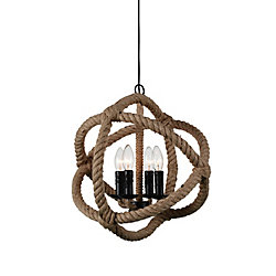 Padma 17-inch 4-Light Chandelier with Black Finish