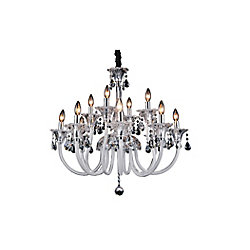 CWI Lighting Melanie 33 inch 12 Light Chandelier with Chrome Finish