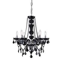 CWI Lighting Princeton 22 inch 6 Light Chandelier with Chrome Finish