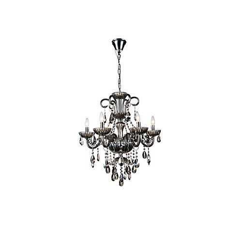 Casper 24 inch 6 Light Chandelier with Chrome Finish