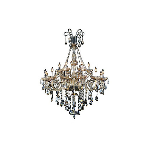 Casper 39 inch 18 Light Chandelier with Chrome Finish