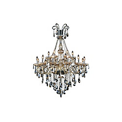 CWI Lighting Casper 39 inch 18 Light Chandelier with Chrome Finish