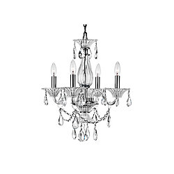 Lexis 20 inch 4 Light Chandelier with Chrome Finish