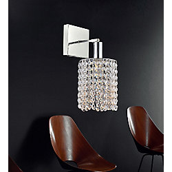 CWI Lighting Glitz 8 inch 1 Light Wall Sconce with Chrome Finish