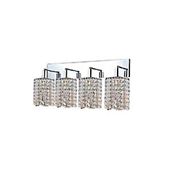 Glitz 5 inch 4 Light Wall Sconce with Chrome Finish