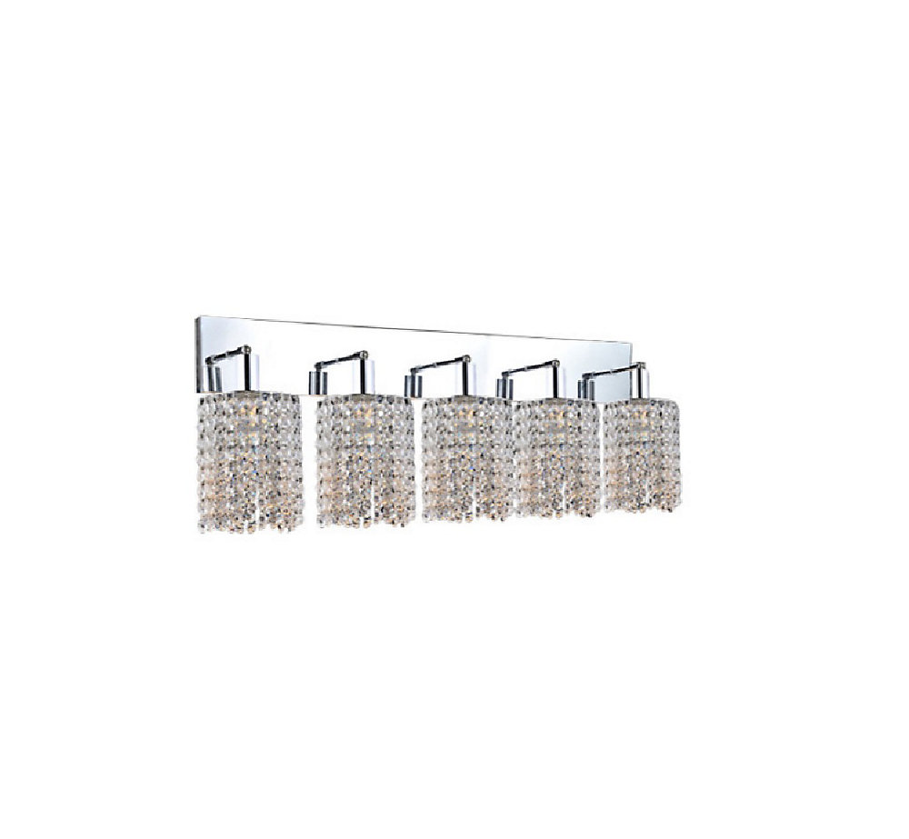 Glitz 6 inch 5 Light Wall Sconce with Chrome Finish