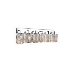 Glitz 5-inch 6 Light Wall Sconce with Chrome Finish
