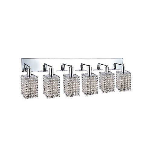 Glitz 5 inch 6 Light Wall Sconce with Chrome Finish