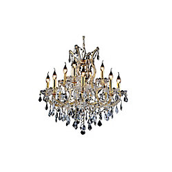 CWI Lighting Maria Theresa 30 inch 13 Light Chandelier with Gold Finish