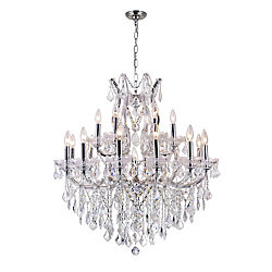 Maria Theresa 32 inch 19 Light Chandelier with Chrome Finish