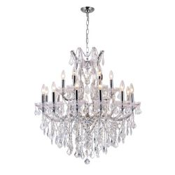 CWI Lighting Maria Theresa 32 inch 19 Light Chandelier with Chrome Finish