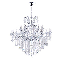 Maria Theresa 60 inch 31 Light Chandelier with Chrome Finish