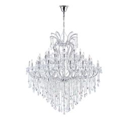 CWI Lighting Maria Theresa 64 inch 55 Light Chandelier with Chrome Finish