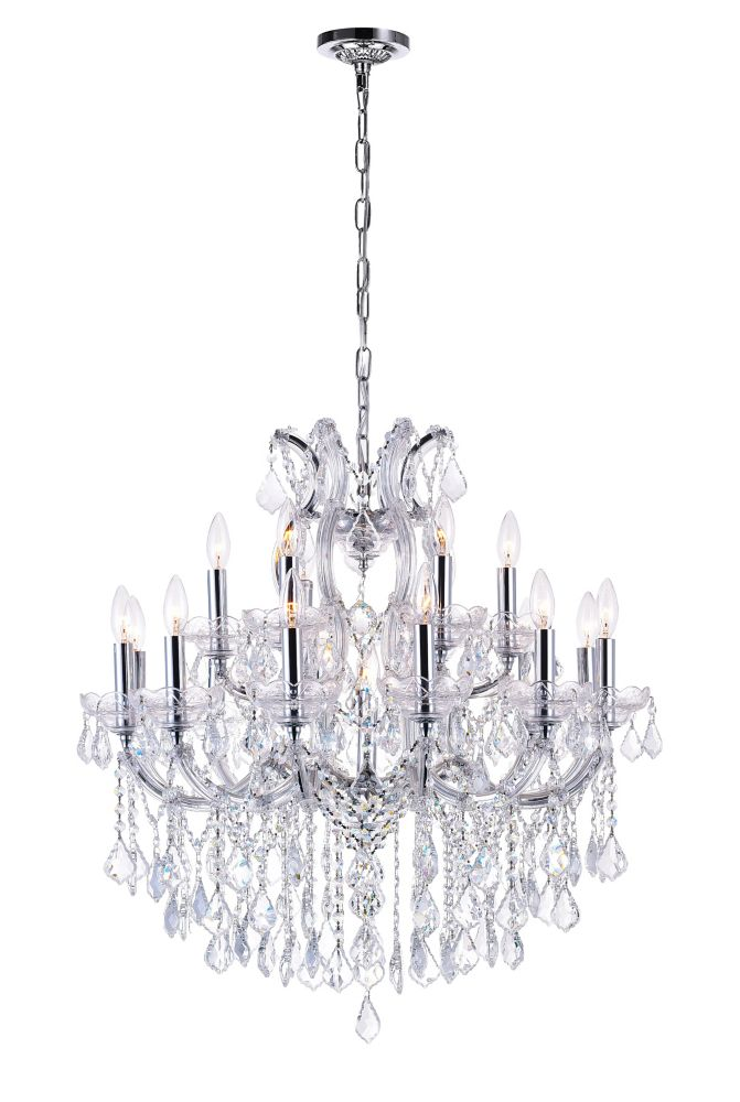 CWI Lighting Maria Theresa 30 inch 19 Light Chandelier with Chrome Finish