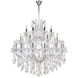 CWI Lighting Maria Theresa 42 inch 33 Light Chandelier with Chrome Finish