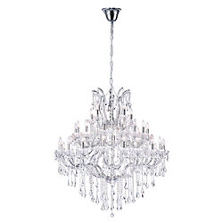 Maria Theresa 50 inch 41 Light Chandelier with Chrome Finish