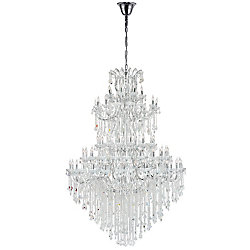 Maria Theresa 70 inch 84 Light Chandelier with Chrome Finish