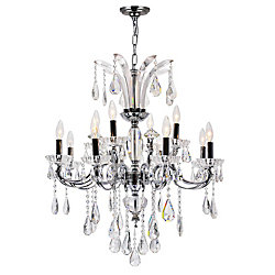 Glorious 28 inch 12 Light Chandelier with Chrome Finish