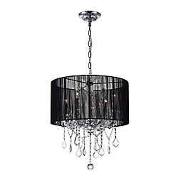 CWI Lighting Maria Theresa 20 inch 4 Light Chandelier with Chrome Finish