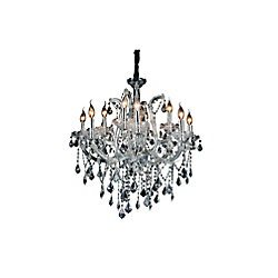 Maria Theresa 30 inch 12 Light Chandelier with Chrome Finish