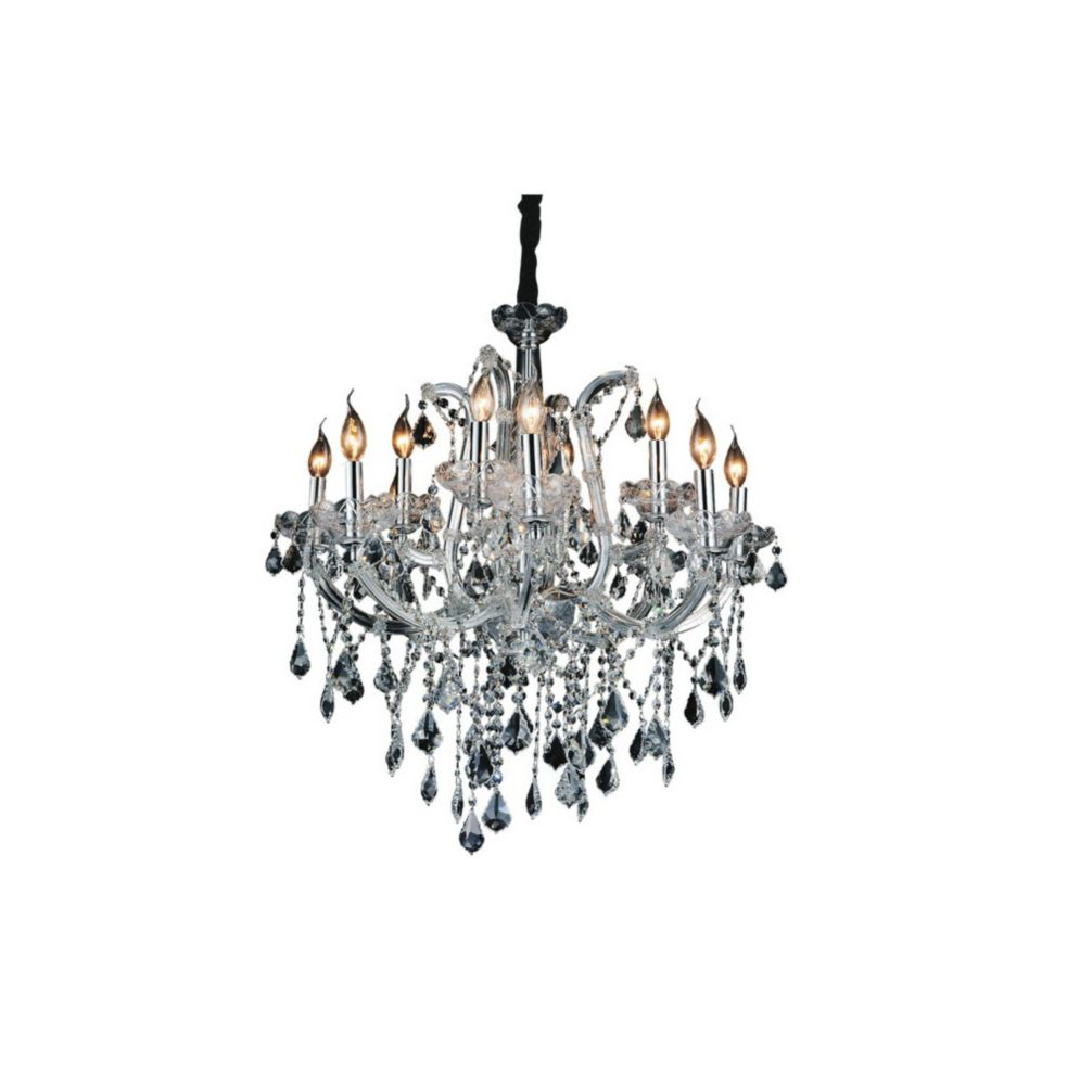 CWI Lighting Maria Theresa 30 inch 12 Light Chandelier with Chrome Finish