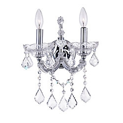 CWI Lighting Maria Theresa 10 inch 2 Light Wall Sconce with Chrome Finish