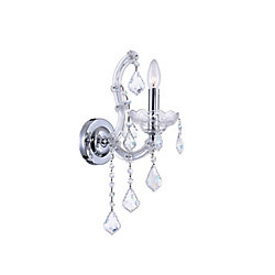 Maria Theresa 10 inch 1 Light Wall Sconce with Chrome Finish
