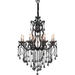 CWI Lighting Abby 32 inch 9 Light Chandelier with Chrome Finish
