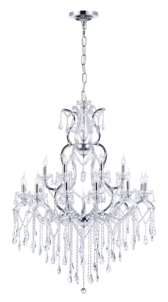 CWI Lighting Abby 44 inch 19 Light Chandelier with Chrome Finish
