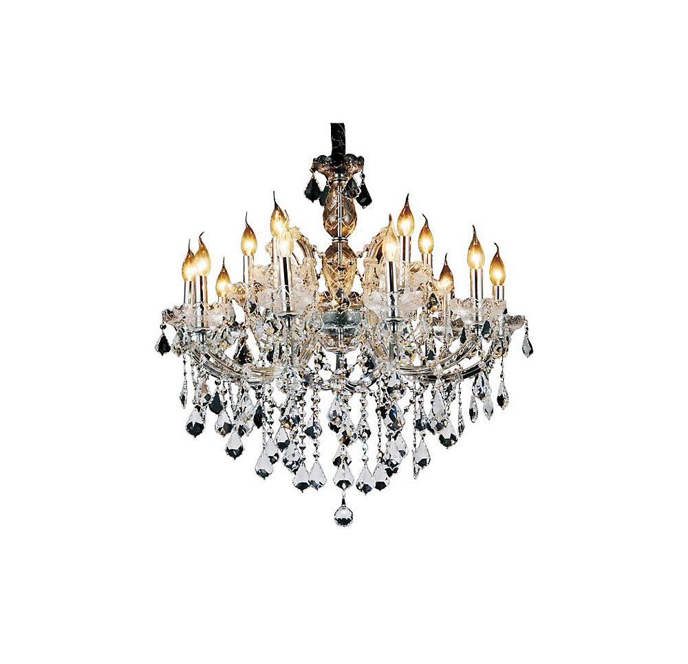 Riley 32 inch 15 Light Chandelier with Chrome Finish