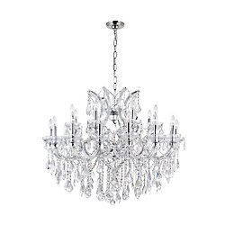 Maria Theresa 42 inch 25 Light Chandelier with Chrome Finish