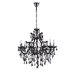 CWI Lighting Dianna 34 inch 10 Light Chandelier with Chrome Finish
