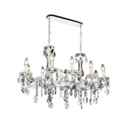 CWI Lighting Flawless 37 inch 10 Light Chandelier with Pearl White Finish