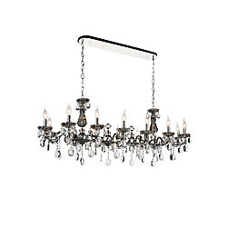 Flawless 54 inch 14 Light Chandelier with Chrome Finish