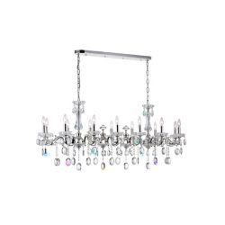 CWI Lighting Flawless 54 inch 14 Light Chandelier with Silver Finish