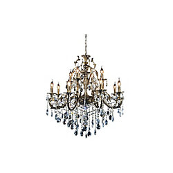 CWI Lighting Brass 36-inch 12 Light Chandelier with Antique Brass Finish