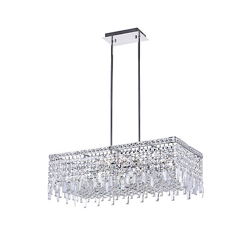 Colosseum 30 inch 10 Light Chandelier with Chrome Finish