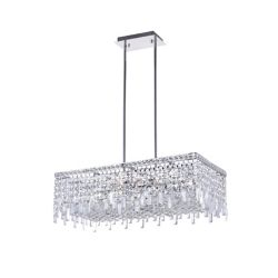 CWI Lighting Colosseum 30 inch 10 Light Chandelier with Chrome Finish