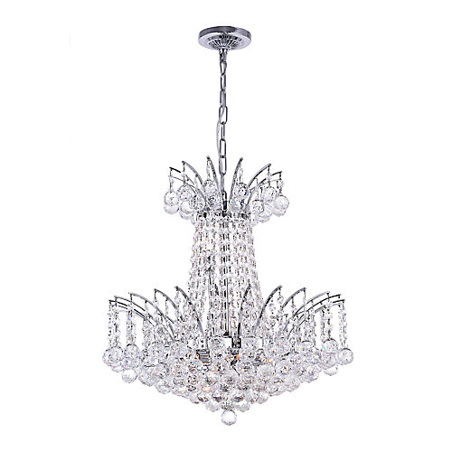 Posh 20 inch 11 Light Chandelier with Chrome Finish
