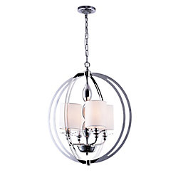 Pheonix 21 inch 4 Light Chandelier with Chrome Finish