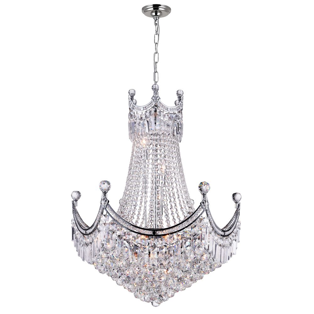 CWI Lighting Amanda 28 inch 15 Light Chandelier with Chrome Finish