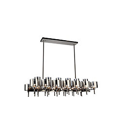 Montoya 22 inch 26 Light Chandelier with Pearl Black Finish
