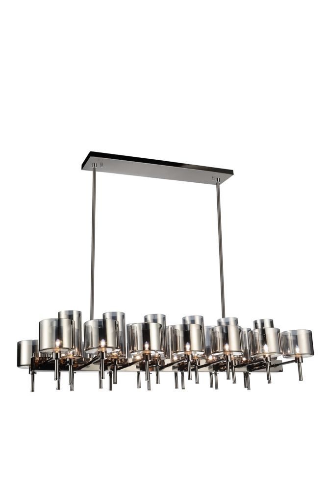 CWI Lighting Montoya 22 inch 26 Light Chandelier with Pearl Black Finish