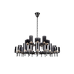 Montoya 48 inch 30 Light Chandelier with Pearl Black Finish
