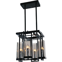 Vanna 14 inch 4 Light Chandelier with Black Finish