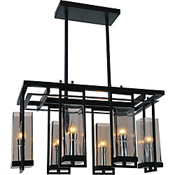 Vanna 27 inch 6 Light Chandelier with Black Finish