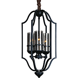 Vanna 15 inch 3 Light Chandelier with Black Finish