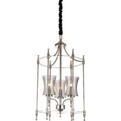 CWI Lighting London 17 inch 3 Light Chandelier with Chrome Finish