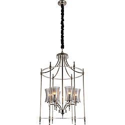CWI Lighting London 22-inch 6 Light Chandelier with Chrome Finish